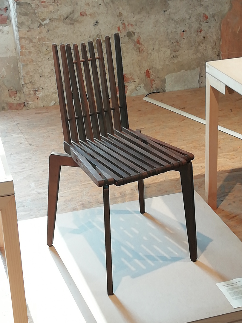 DIPSTOR® chair Massimo-L 2 in MAO; thermally modified ash